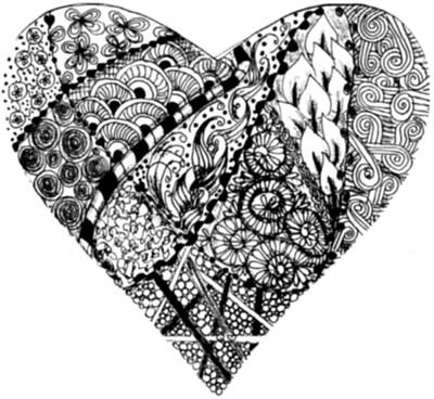 Drawing - Tangled Heart by Quwatha Valentine