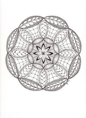 Zia Drawing - Tangled Mandala by Christianne Gerstner