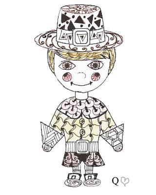 Drawing - Tangled Pilgrim 4 by Quwatha Valentine