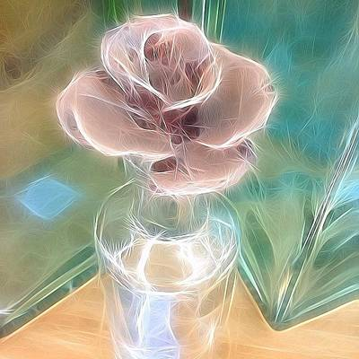 Photograph - Tangled Rose Topped Bottle by Kathleen Messmer