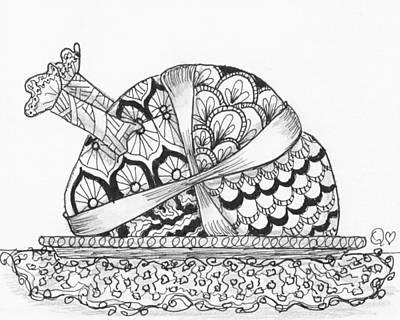 Drawing - Tangled Turkey 4 by Quwatha Valentine