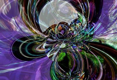 Digital Art - Tangled Web - Birth Of Dimensions by Richard Thomas