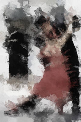 Shadow Dancing Painting - Tango 2 by Ayse and Deniz