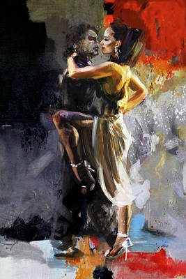 Expressionist Painting - Tango - 3 by Mahnoor Shah