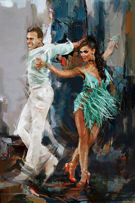 Spain Painting - Tango 4 by Mahnoor Shah