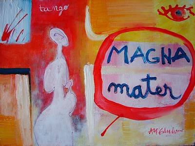 Abstract Mother And Child Painting - Tango by Ana Maria Edulescu