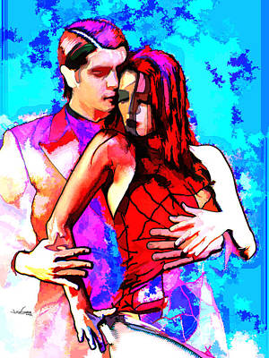 Mixed Media - Tango Argentino - Love And Passion by Reno Graf von Buckenberg