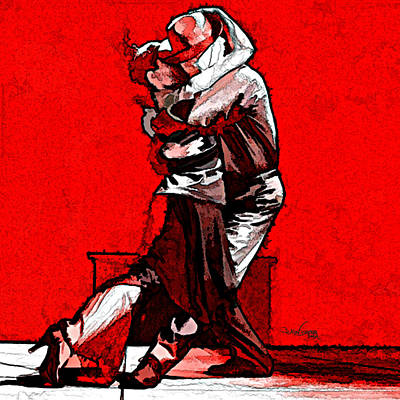 Mixed Media - Tango Argentino - Melting Together by Reno Graf von Buckenberg