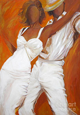 Painting - Tango Blanco by Sheri  Chakamian