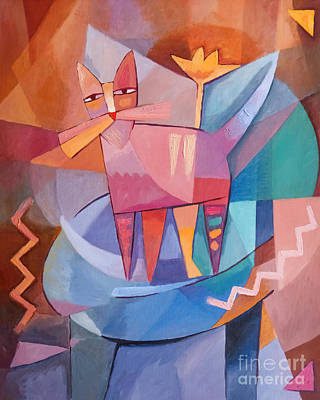 Tango Cat Art Print by Lutz Baar