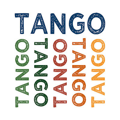 Tango Cute Colorful Art Print