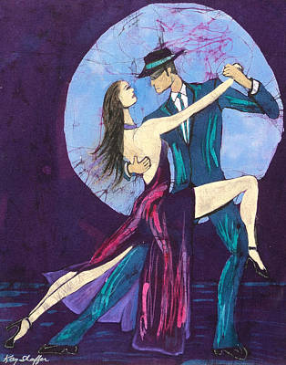 Tapestry - Textile - Tango Dancers by Kay Shaffer