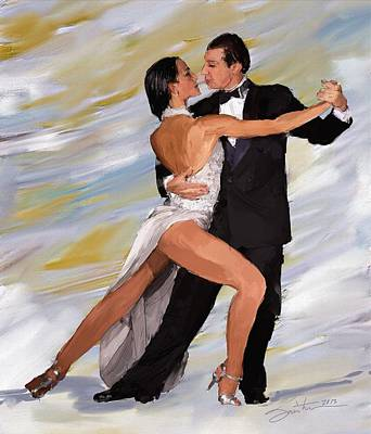 Painting - Tango Dancers by Robert Smith