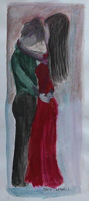 First Couple Painting - Tango by David Cardwell