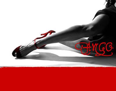 Merengue Mixed Media - Tango by Doug Walker