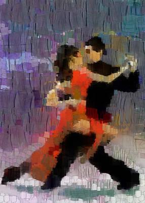 Art Print featuring the painting Tango by Georgi Dimitrov