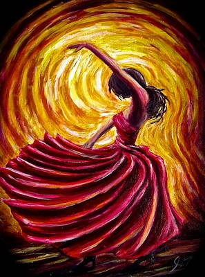 Painting - Tango Girl by Sebastian Pierre