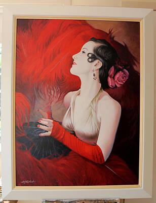 Eric Shepherd Painting - Tango In Red by Eric Shepherd