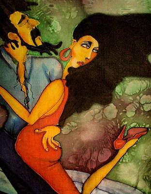 Wall Art - Painting - Tango by Jakki Moore