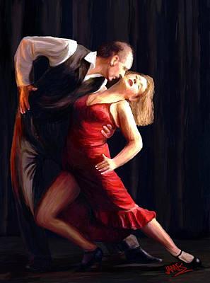 Passion Painting - Tango by James Shepherd