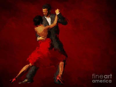 Shadow Dancing Painting - Tango by John Edwards