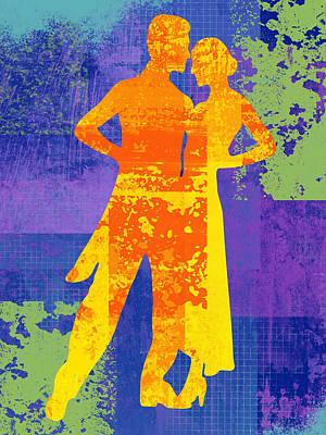 Ballroom Digital Art - Tango Night by David G Paul