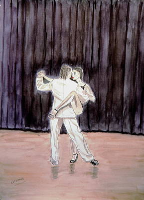Tango Passion. Art Print by Shlomo Zangilevitch