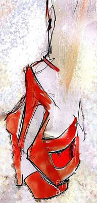 Shoe Digital Art - Tango - Tango Shoes by Carolyn Weltman