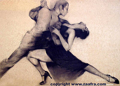 Bandoneon Wall Art - Drawing - Tango by Zaafra David