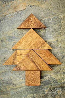 tangram Christmas tree Art Print