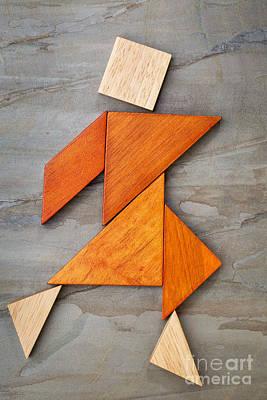 Tangram Dancing Figure Art Print