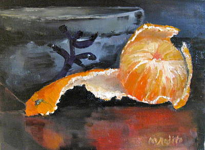 Art Print featuring the painting Tangy Tangerine by MaryAnne Ardito