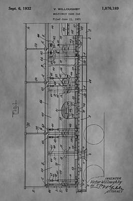 Caboose Drawing - Tank Car Patent by Dan Sproul