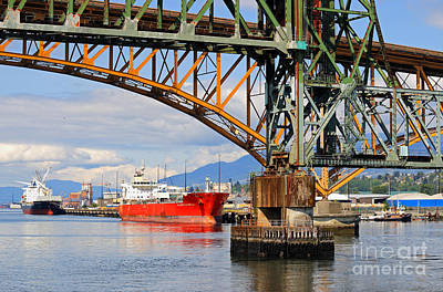 Photograph - Tanker In Vancouver by Charline Xia