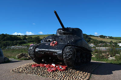 Photograph - Tank Memorial by Chris Day