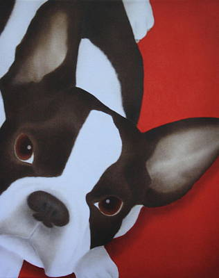 Bulldog Oil Painting - French Bulldog by Terri Meyers