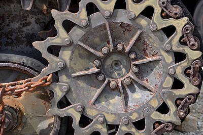 Photograph - Tank Wheel by Ann Bridges
