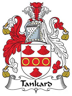Tankard Digital Art - Tankard Coat Of Arms Irish by Heraldry