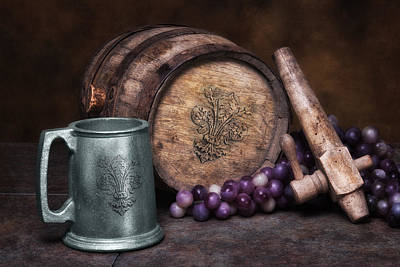 Wine Grapes Photograph - Tankard Of Drink Still Life by Tom Mc Nemar