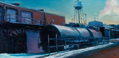 Philadelphia Scene Painting - Tanker Car  by Jesse Gardner