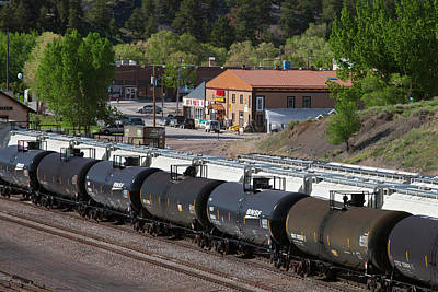Tanker Cars At Rail Yard Art Print by Jim West