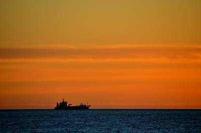 Photograph - Freighter Off Montevideo by Steven Richman
