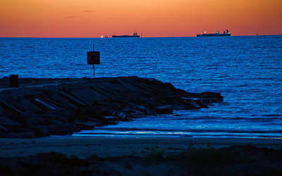 Photograph - Tanker Sunrise by John Collins