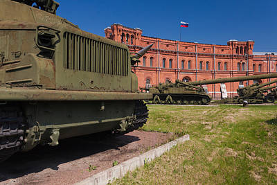 Armored Vehicle Photograph - Tanks At Museum Of Artillery by Panoramic Images