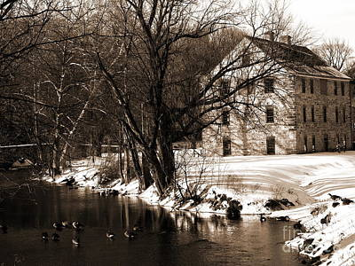 Photograph - Tannery - Sepia - Colonial Industrial Quarter - Bethlehem Pa by Jacqueline M Lewis