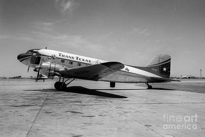 Tans-texas Air Douglas Dc-3 Art Print by Wernher Krutein