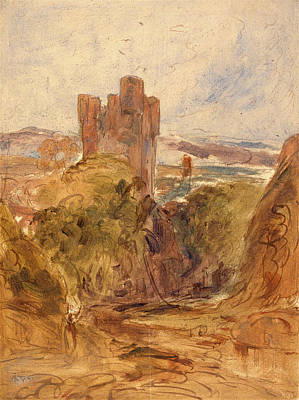 Tantallon Castle , A Study, Unknown Artist Art Print by Litz Collection