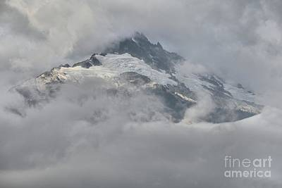 Photograph - Tantalus Shrouded In Clouds by Adam Jewell
