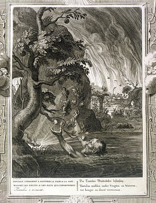 Hunger Drawing - Tantalus Torment, 1731 by Bernard Picart