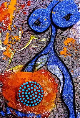 Archetype Painting - Tantric Lady by Tetka Rhu
